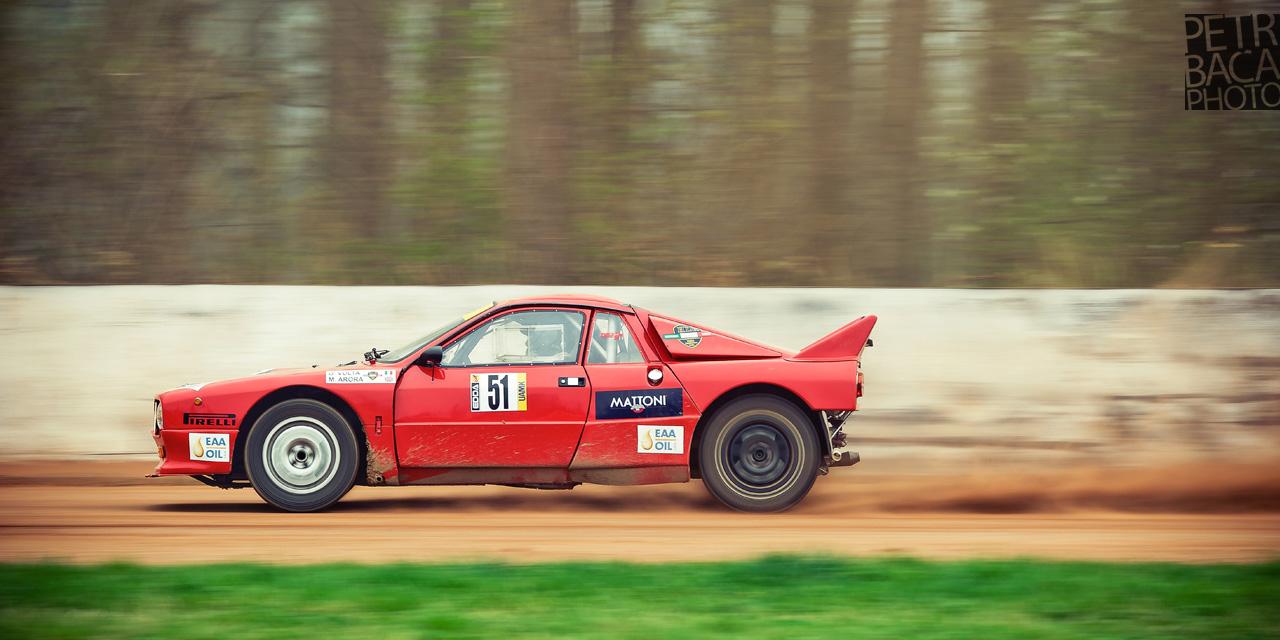 Rallye Praha Revival 2014, RPR, Eda Patera, Chabařovice, plochá dráha, Giuseppe Volta, Lancia 037 Rally,