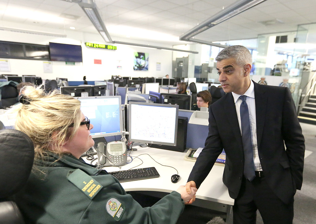 Mayor visits emergency services to pay tribute to their bravery