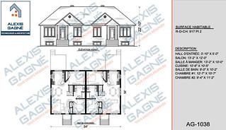 Plan de maison jumelé - MJ.05