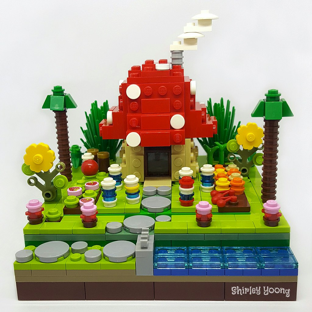 Smurfs Village (custom built Lego model)