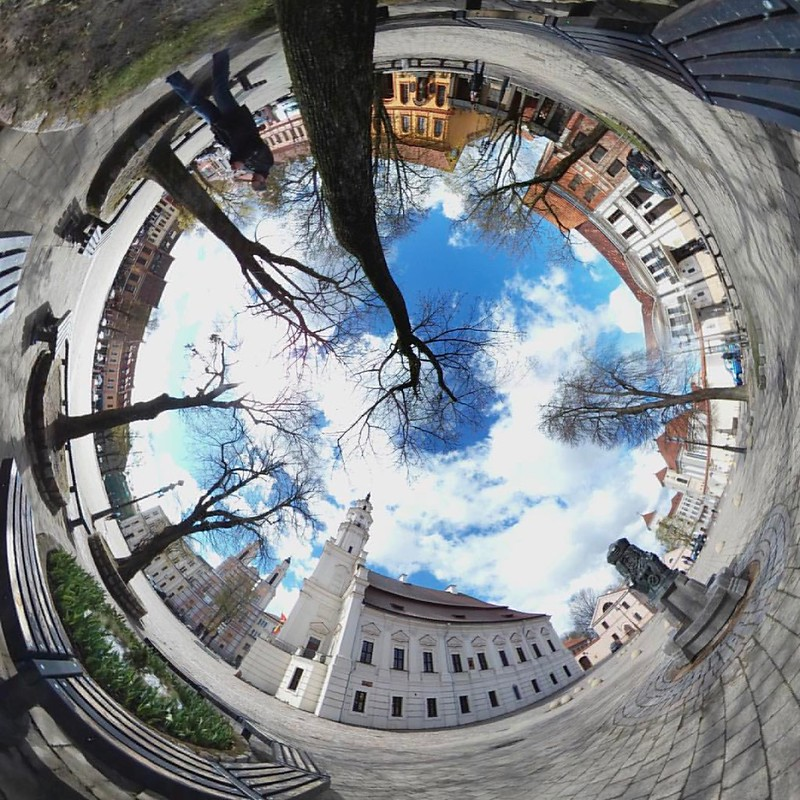 #circular #panorama #kaunas #oldtown #cityhall #360