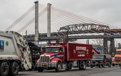 New and Old Kosciuszko Bridges over Newtown Creek, Brooklyn-Queens, New York City