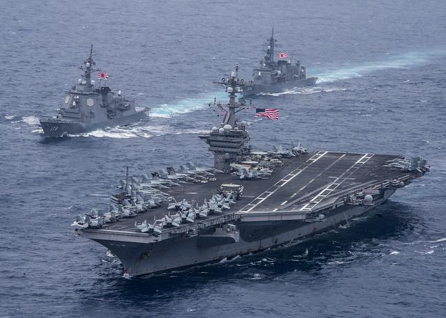 U.S. Navy, Japan Maritime Self Defense Force train together in Philippine Sea
