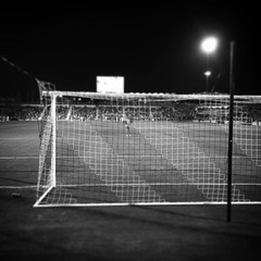 Behind the goal #monochrome #monochromatic #blackandwhite #blackandwhitephotography #bwphoto #soccer #ourclub #sanantoniotx #sanantonio