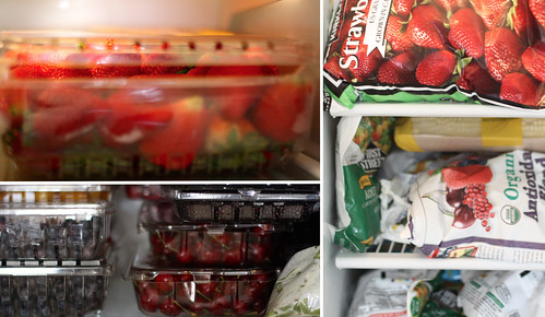 inside fridge