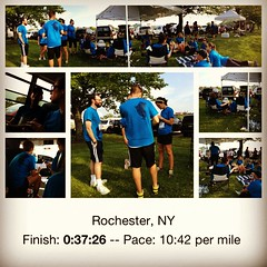 So much fun with my coworkers #picstitch #chase #run #5k #corporatechallenge