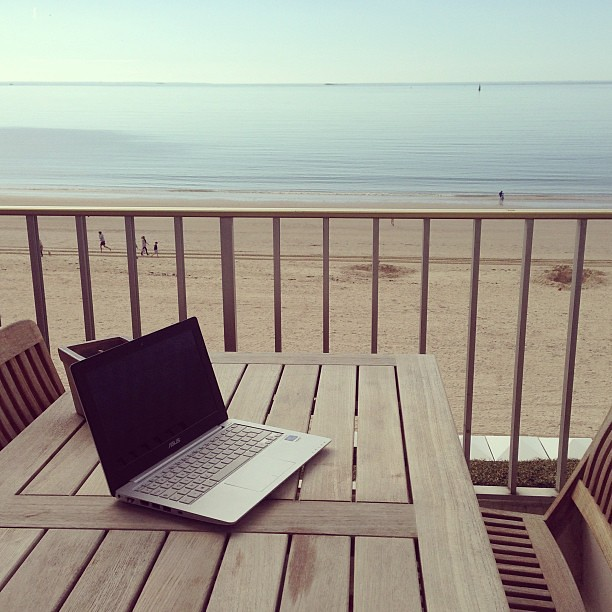 My office for the week. Could...