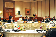 Secretary Kerry Participates in the Opening Session of the London Eleven Plenary