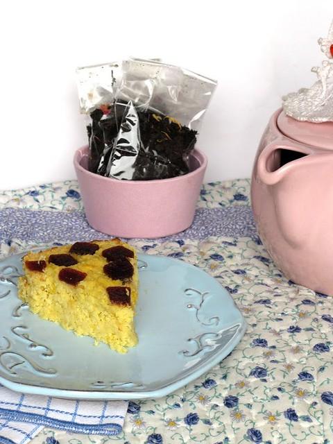 Torta di Limoni e Cocco con goccioline di Mirtillo