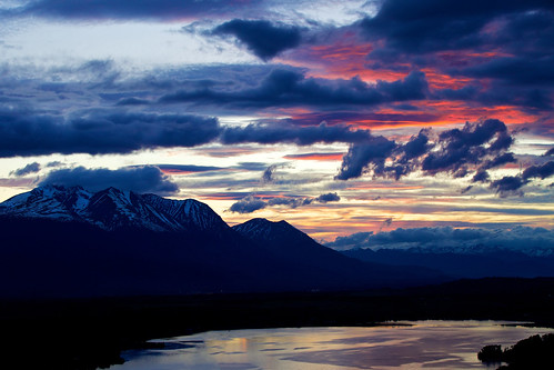 sunset lake night bc cloudy smithers tyee hudsonbaymountain tyeelake