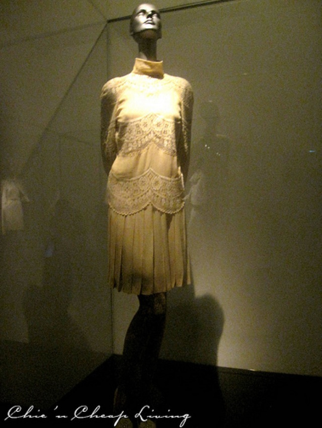 Valentino Jackie O crepe tunic worn for wedding at Valentino Retrospective - by Chic n Cheap Living
