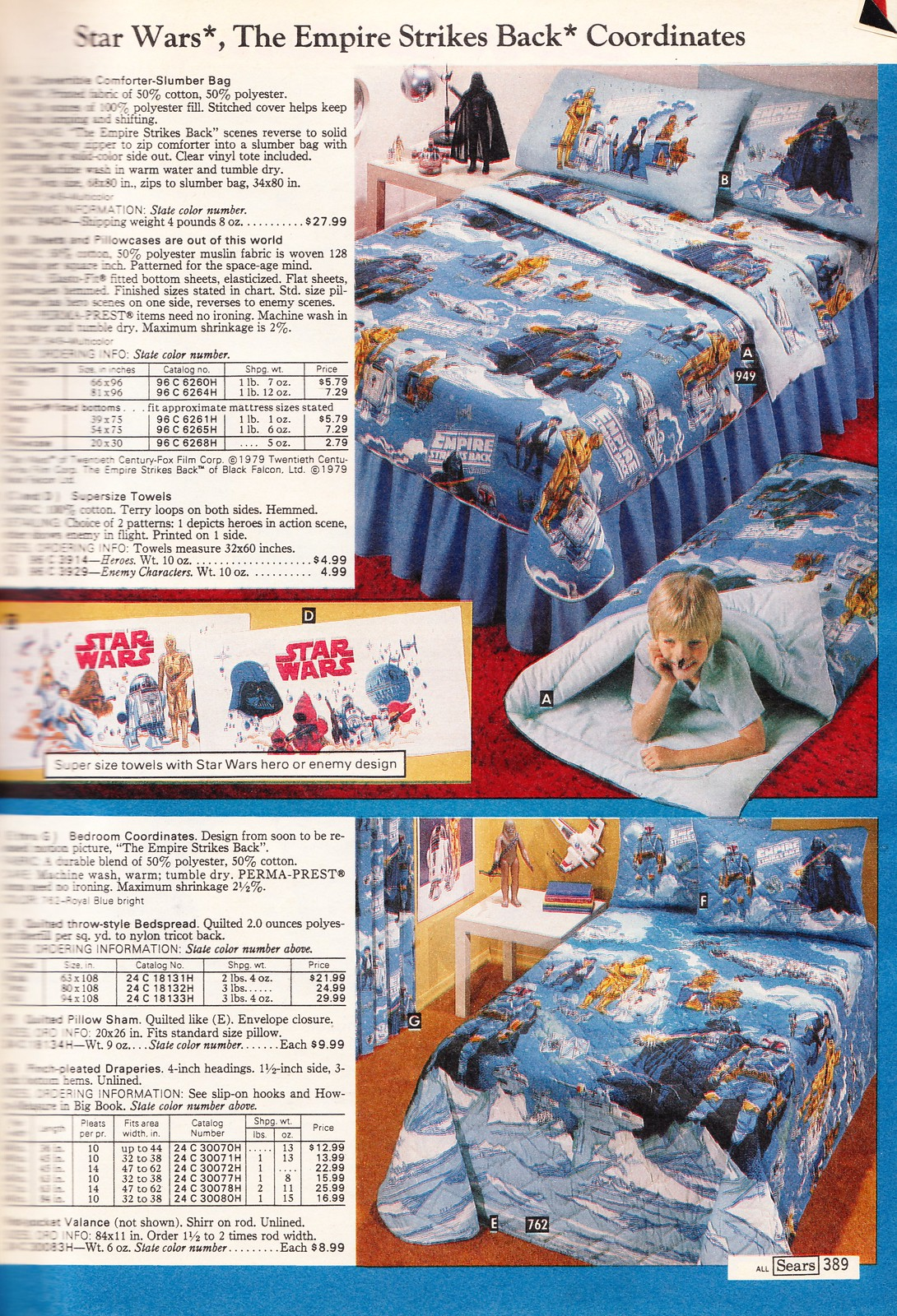 click to enlarge i apologize for the horrible blur at the gutter i have a hard time scanning big meaty catalogs - Bedding Catalogs