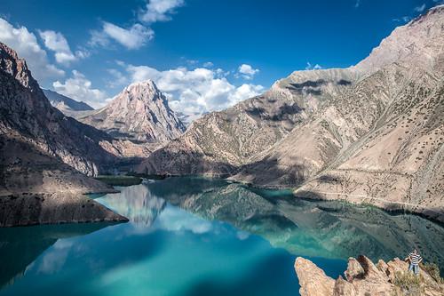 panorama mountain lake nature water ecology scenery asia panoramic land environment tajikistan centralasia mountainlake environmentalism ecosystem glaciallake ayni iskanderkul sughd sughdprovince iskanderkullake