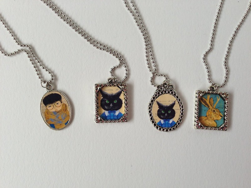 Mini Portrait Necklaces