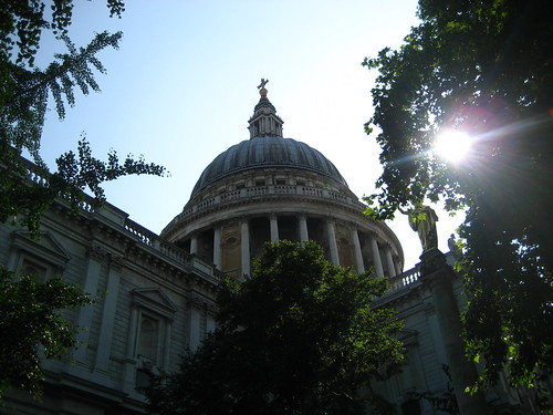 St Paul's Cathedral, in its leafy chrchyard