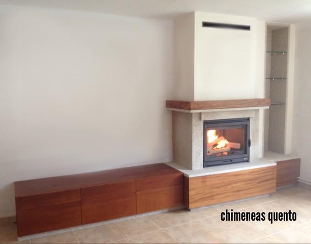 Chimenea frontal quento modelo dela con hogar d 70 - Chimeneas quento ...