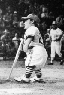 Stidman during his well-known at-bat in 1976.