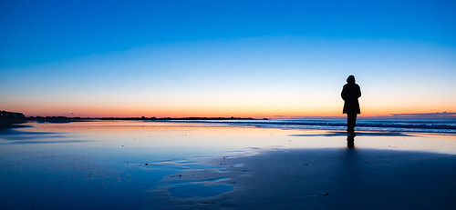 morning blue sunset shadow sea beach sunrise dark sand soft dream lonely shape languedocroussillon palavas flickr12days