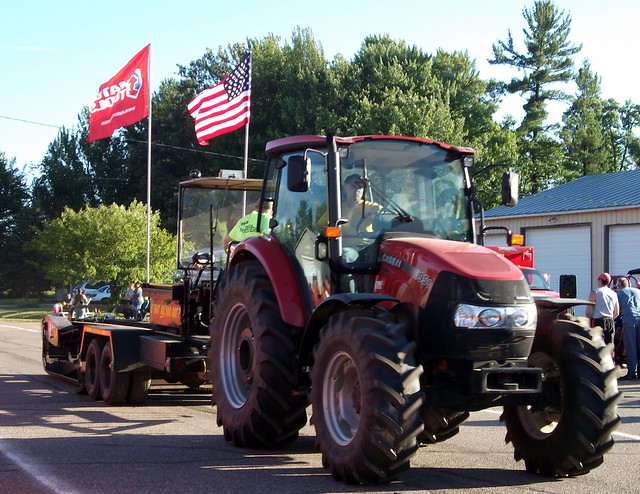 Case Ih Pulling Tractors : Pulling sled and case ih farmall c tractor flickr