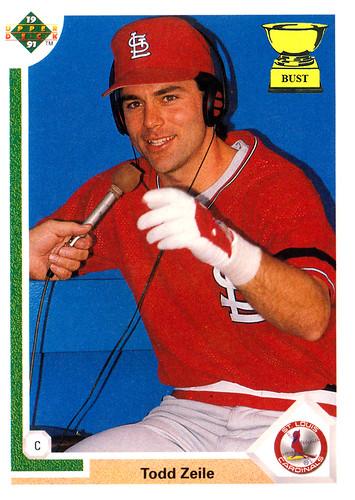 Baseball Card Bust Todd Zeile 1991 Upper Deck