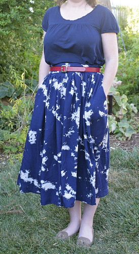 Soft rayon gathered skirt