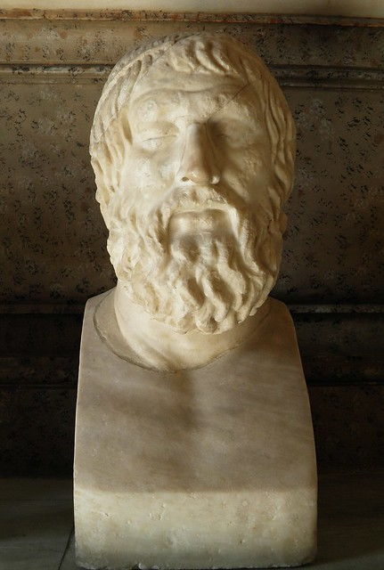 Bust of Sophocles, Roman copy after a Greek original of the 4th century BC, Musei Capitolini, Rome