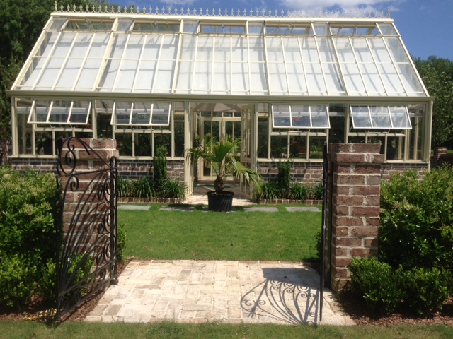 Custom built greenhouse with two porches