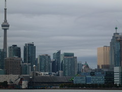Distant Toronto skyline, viewed from the Port Lands, 2013 10 05 (13)