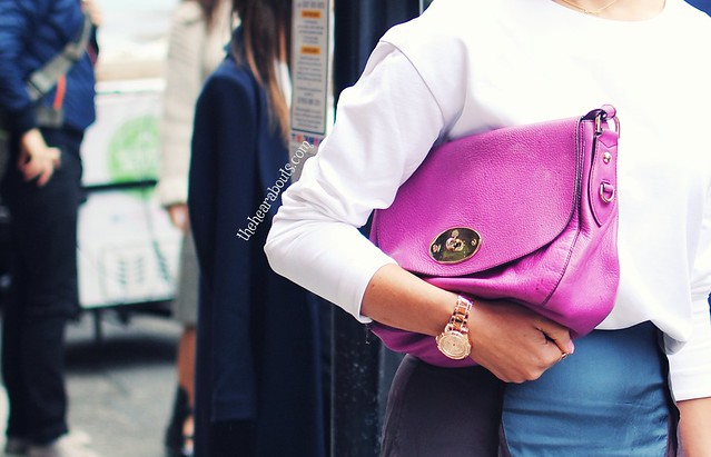 Purple bag lfw
