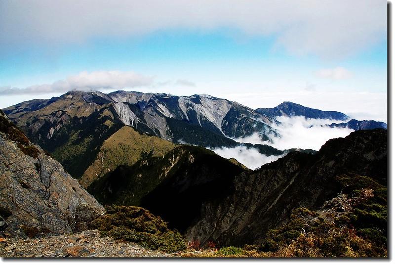南湖、中央尖連稜(From 中央尖山) 4