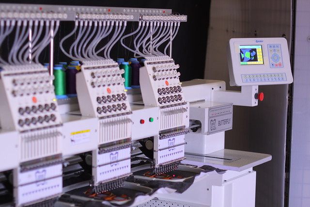 4-Head Butterfly Embroidery Machine