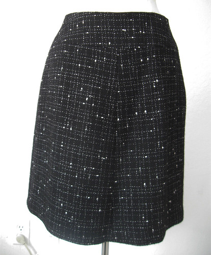 black white suit skirt