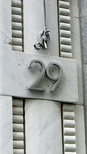 Distinctive Address Plate - 29 Broadway