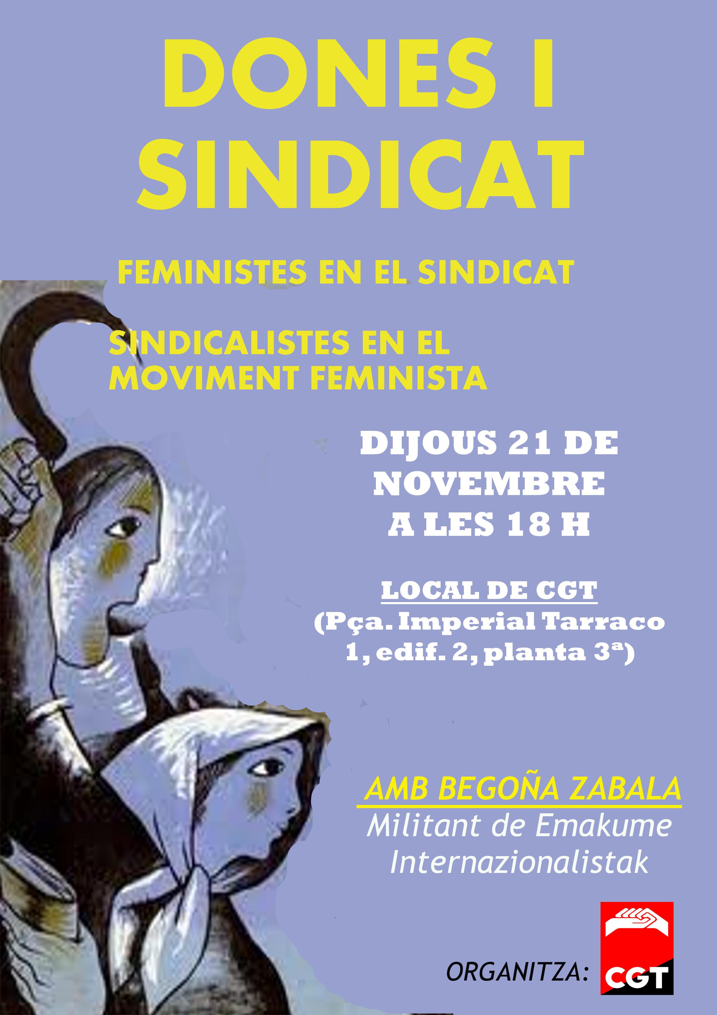 Xerrada dona i sindicat, el 21 de novembre a Tarragona
