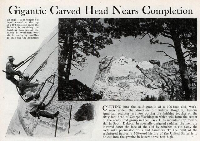 Periódico de la época con la noticia de la construcción del monumento en Black Hills (South Dakota) Mount Rushmore, símbolo del espíritu de una nación - 10910570025 fcb46ff288 z - Mount Rushmore, símbolo del espíritu de una nación