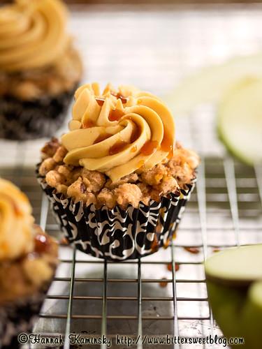 Caramel Apple Crisp Cupcakes