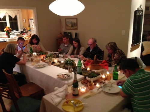 iPhones at thanksgiving dinner