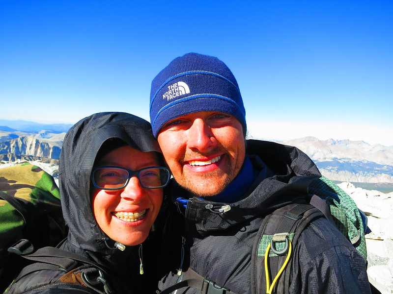 alice and russell on mt whitney summit