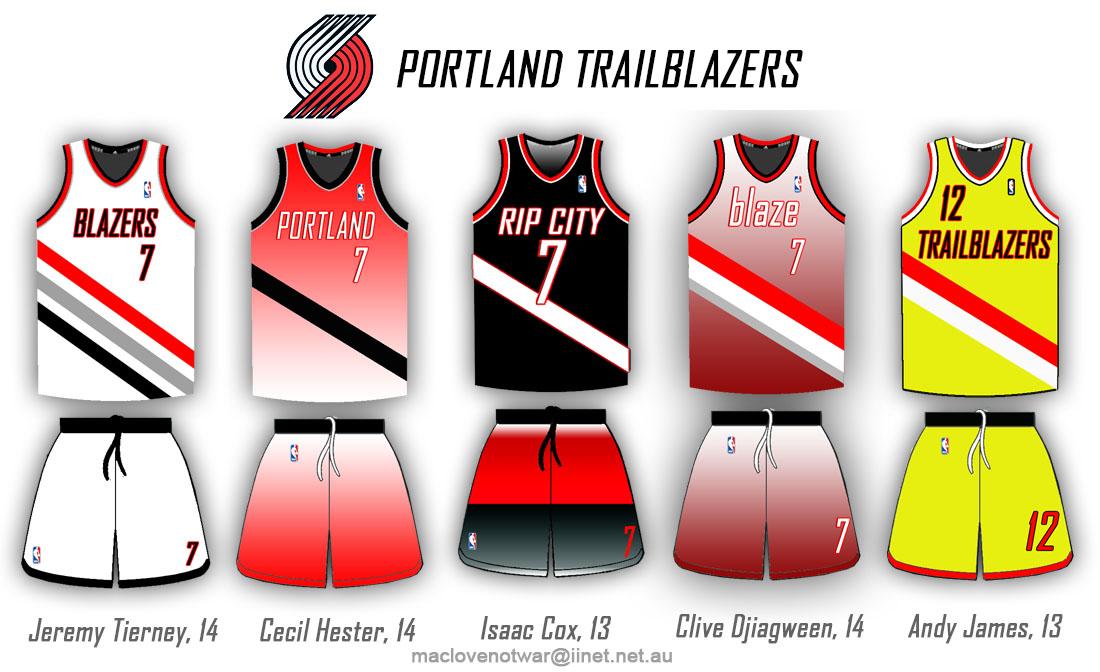 ba32f1b0faa Uni Watch - Portland Trail Blazers redesign ideas