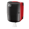 SCA 653008 Tork Wiper Combi Roll Dispenser Red/Black
