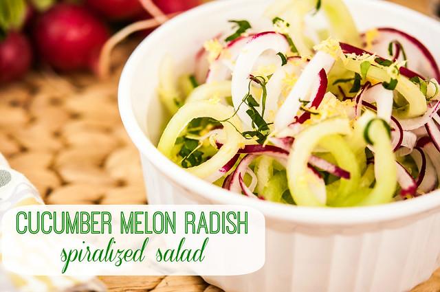 cucumber melon radish spiralized summer salad in_the_know_mom #simplestart