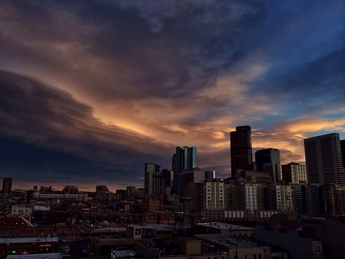 city sunset sky streets skyline architecture night clouds buildings colorado cloudy denver twentyone01loftsonmarket
