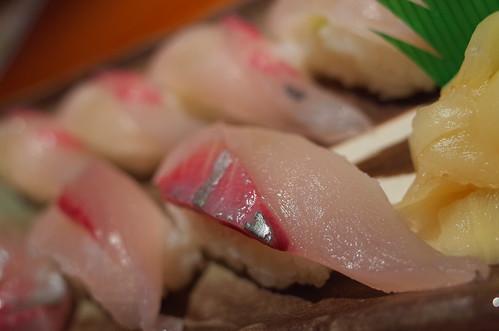 White trevally sushi