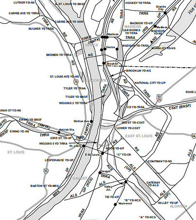 St. louis Rail Map IDOT