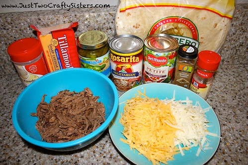 shredded beef chimichanga ingredients