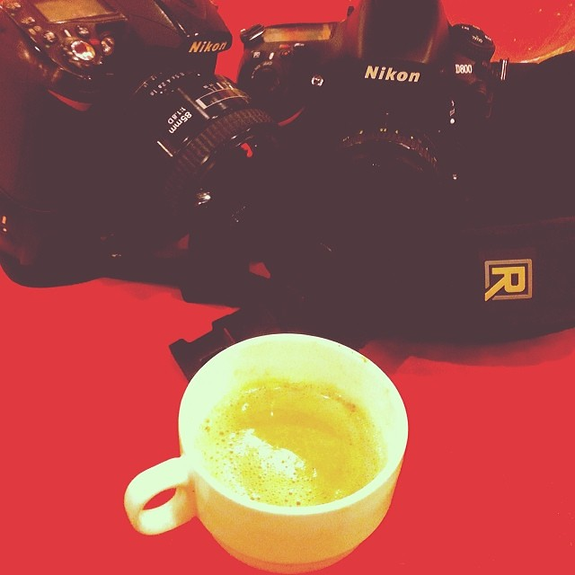 Off to Job ! #nikon, #D800, #D90, #coffee, #chitChat, #blackRapid, #R,