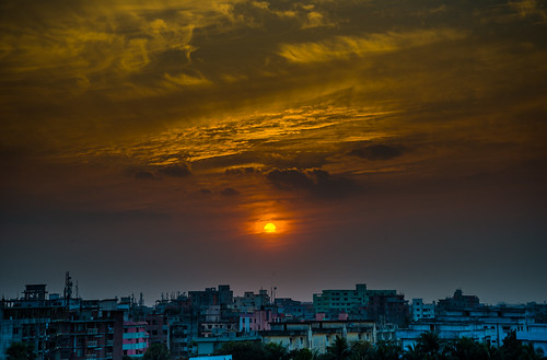 sunset sky day cloudy dhaka bangladesh
