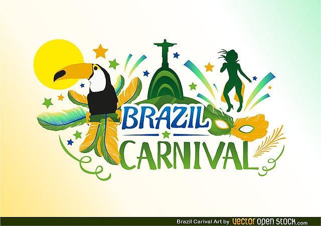Brazil Carnival fresh best free vector packs kits