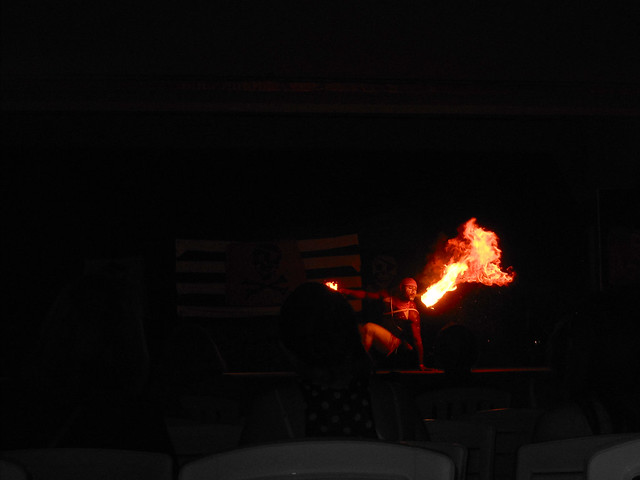 Jamaica fire dancer