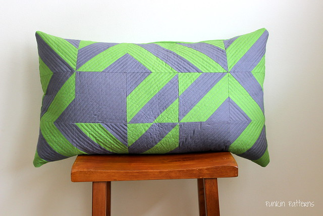 Scrappy geometric pillow